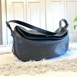 Cynthia Rowley Black Pebble Leather Shoulder Bag